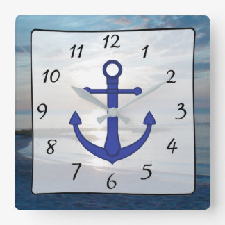 Cape Cod Sunset Ocean View Beach Anchor Clock