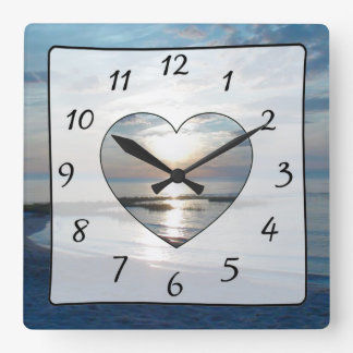 Cape Cod Sunset Ocean View Beach Clock