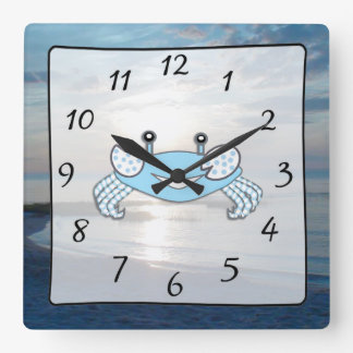 Cape Cod Sunset Ocean View Beach Crab Clock