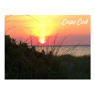 Cape Cod Sunset Orange Postcard
