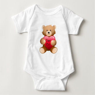 Cape Cod Teddy Bear Heart Baby Infant Creeper