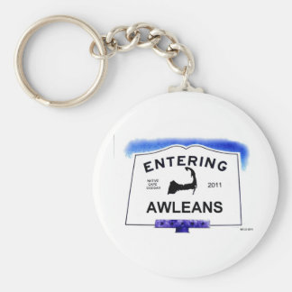 Cape Cod town, Awleans (Orleans to 'outsiders') Basic Round Button Keychain