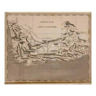 Cape Colony Map by Arrowsmith Poster