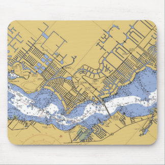 Cape Coral, Florida Nautical Harbor chart mousepad