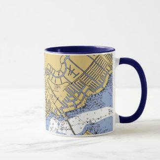 Cape Coral, Florida Nautical Harbor chart mug