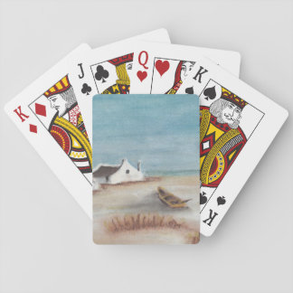 Cape cottage and boat playing cards