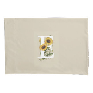 Cape Daisy E Monogram Pillow Case