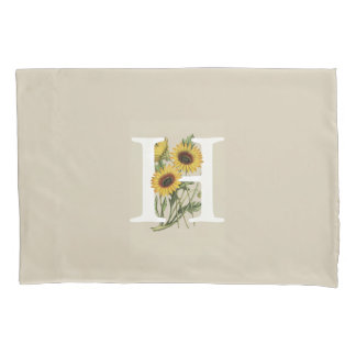 Cape Daisy H Monogram Pillow Case
