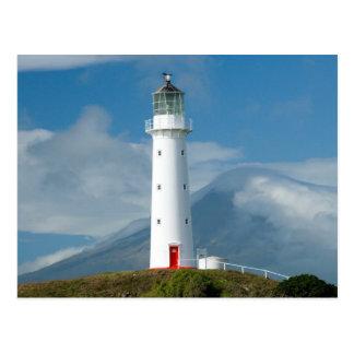 Cape Egmont Lighthouse and Mt Taranaki/Mt Postcard