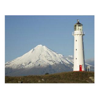 Cape Egmont Lighthouse and Mt Taranaki / Mt Postcard