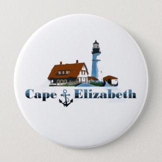 Cape Elizabeth. 4 Inch Round Button