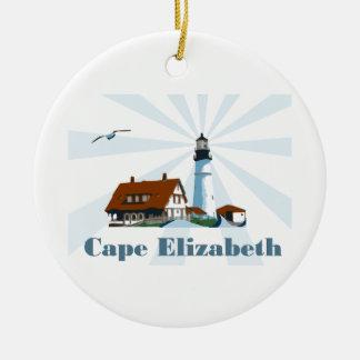Cape Elizabeth. Ceramic Ornament