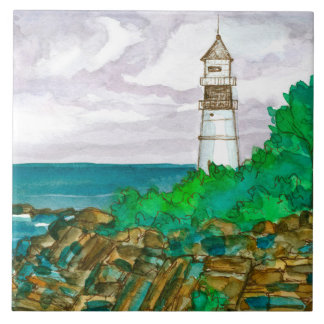 Cape Elizabeth Maine Portland Head Light Tile