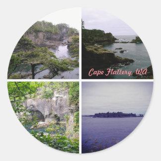 Cape Flattery round sticker