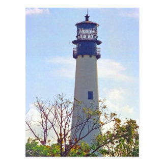 CAPE FLORIDA LIGHT POSTCARD