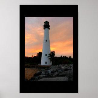 Cape Florida lighthouse print