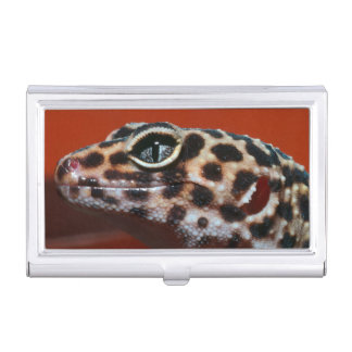 Cape Gecko (Pachydactylus Capensis) Profile Business Card Holders