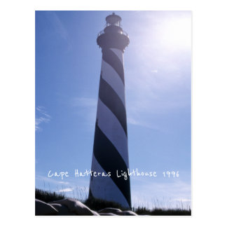 Cape Hatteras Lighthouse 1996 Sea Erosion Sandbags Postcard