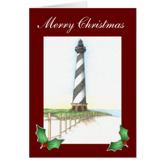 Cape Hatteras Lighthouse Christmas Card