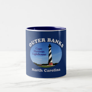 Cape Hatteras Lighthouse --Coffee mug--Outer Banks Two-Tone Coffee Mug