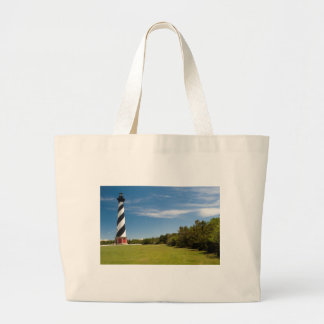 cape hatteras lighthouse large tote bag