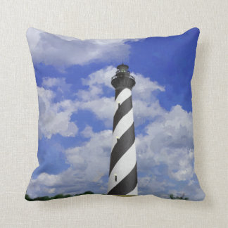 Cape Hatteras Lighthouse Painting Throw Pillow