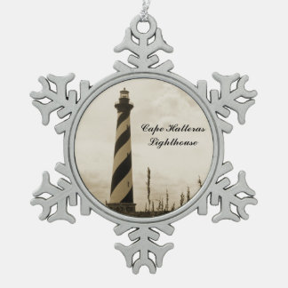 Cape Hatteras Lighthouse Pewter Snowflake Ornament