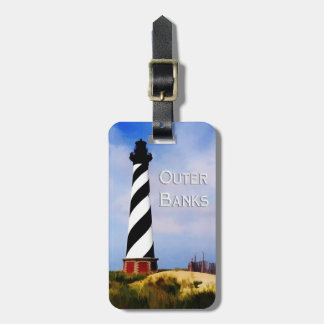 Cape Hatteras Lighthouse Poster Text Outer Banks Luggage Tag