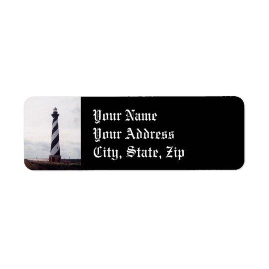 Cape Hatteras Lighthouse Return Address Label