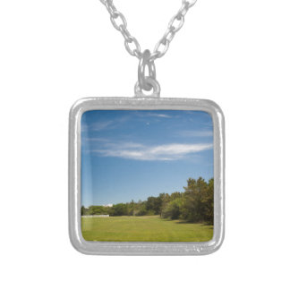 cape hatteras lighthouse silver plated necklace
