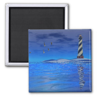 Cape Hatteras Lighthouse Square Magnet