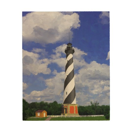 Cape Hatteras lighthouse Wood Canvas Painting