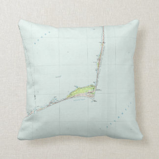 Cape Hatteras National Seashore Map (1985) Throw Pillow