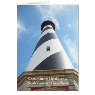 Cape Hatteras Outer  Banks NC Lighthouse Card