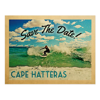 Cape Hatteras Save The Date North Carolina Surfing Postcard
