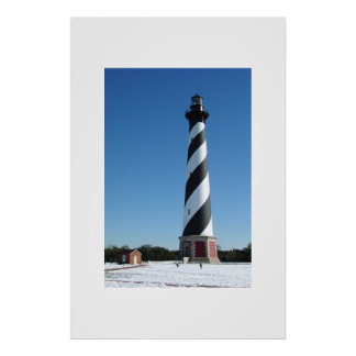 Cape Hatteras Snow Poster