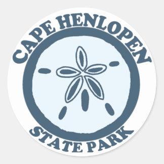 Cape Henlopen. Round Sticker