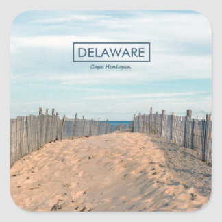 Cape Henlopen. Square Sticker
