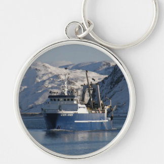 Cape Horn, Factory Trawler in Dutch Harbor, AK Silver-Colored Round Keychain