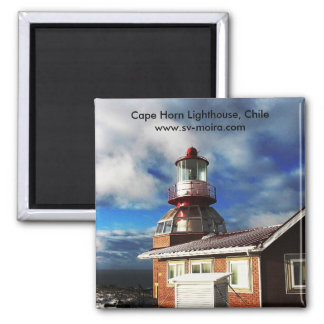 Cape Horn Lighthouse, Chile Square Magnet