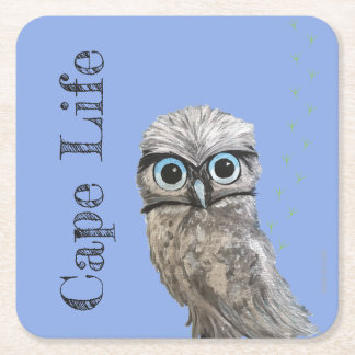 Cape LIfe Burrowing Owl Cape Coral Florida Square Paper Coaster