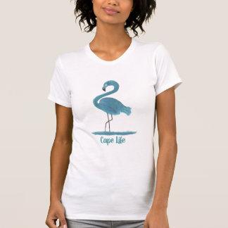 Cape Life Flamingo Art Painting Cape Coral Florida T-Shirt