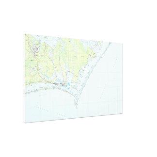 Cape Lookout National Seashore & Morehead City Map Canvas Print