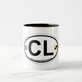 Cape Lookout. Two-Tone Coffee Mug