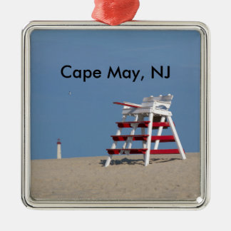 Cape May lifeguard chair Metal Ornament