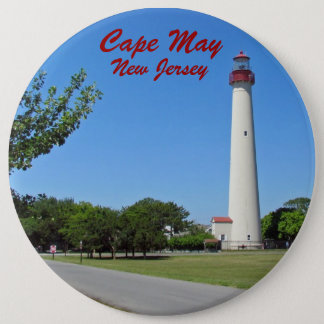Cape May Lighthouse 6 Inch Round Button