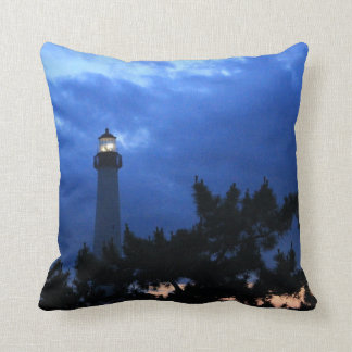 Cape May Lighthouse at Sunset 2 pillow