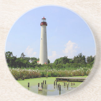 Cape May Lighthouse Beverage Coasters