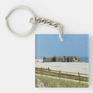 Cape May Lighthouse & Bunker Keychain