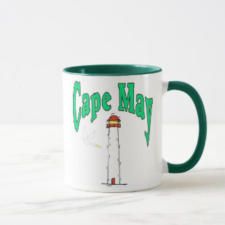 Cape May Lighthouse Cartoon Mug